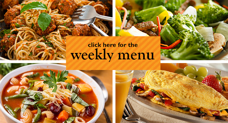 click here for the weekly menu
